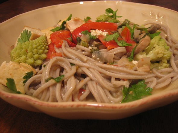 saucy soba noodles