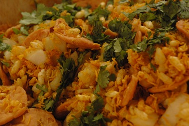 swad bhel puri in a box