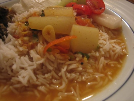 daikon-sambar-and-rice