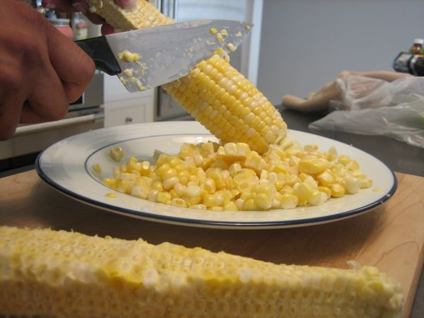 Corn Removing from Cob