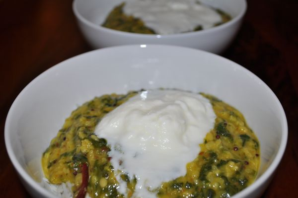 lemon spinach pappu
